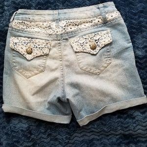 Cato Shorts - Cato Destressed Denim Jean Shorts